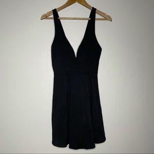 Lulu's Love Galore Black Skater Dress Size Small